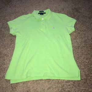 Ralph Lauren Women's Light Green Polo Medium